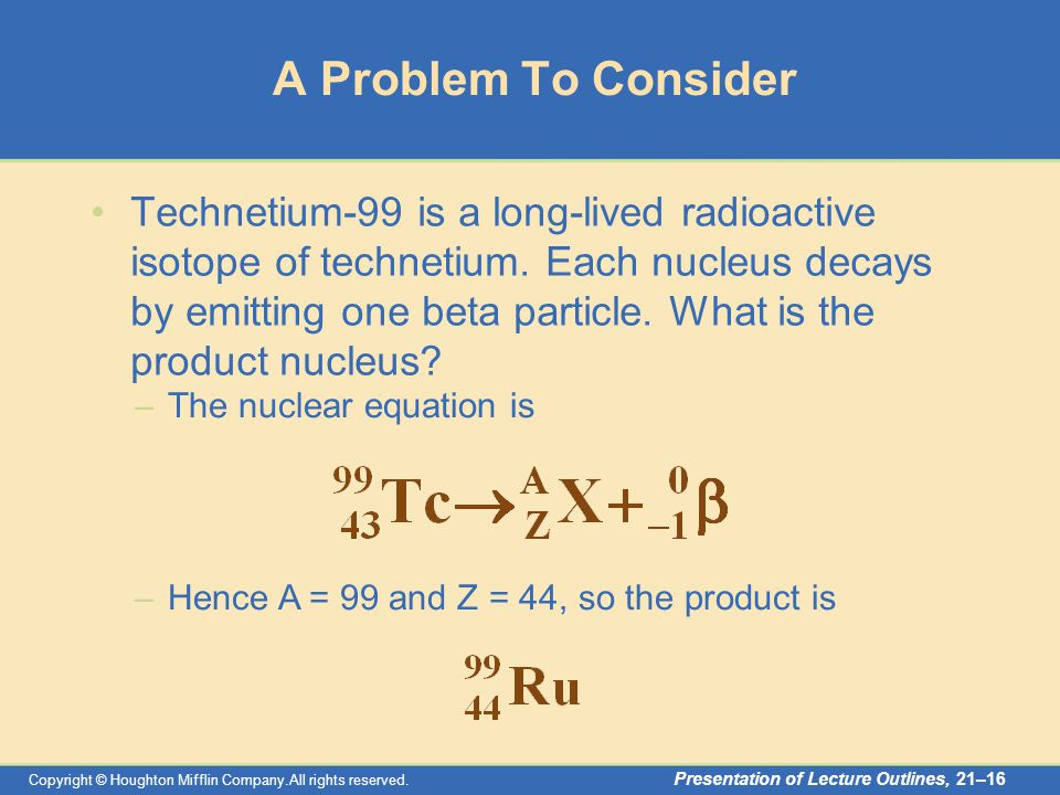Nuclear Chemistry Copyright Houghton Mifflin Companyl Rights