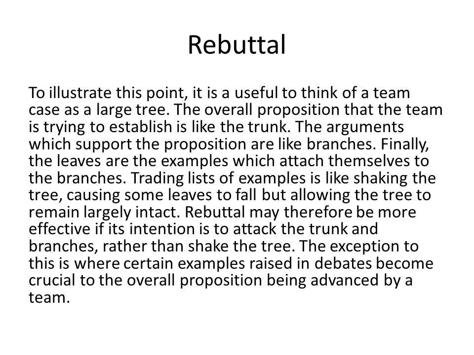 rebuttal argument topics