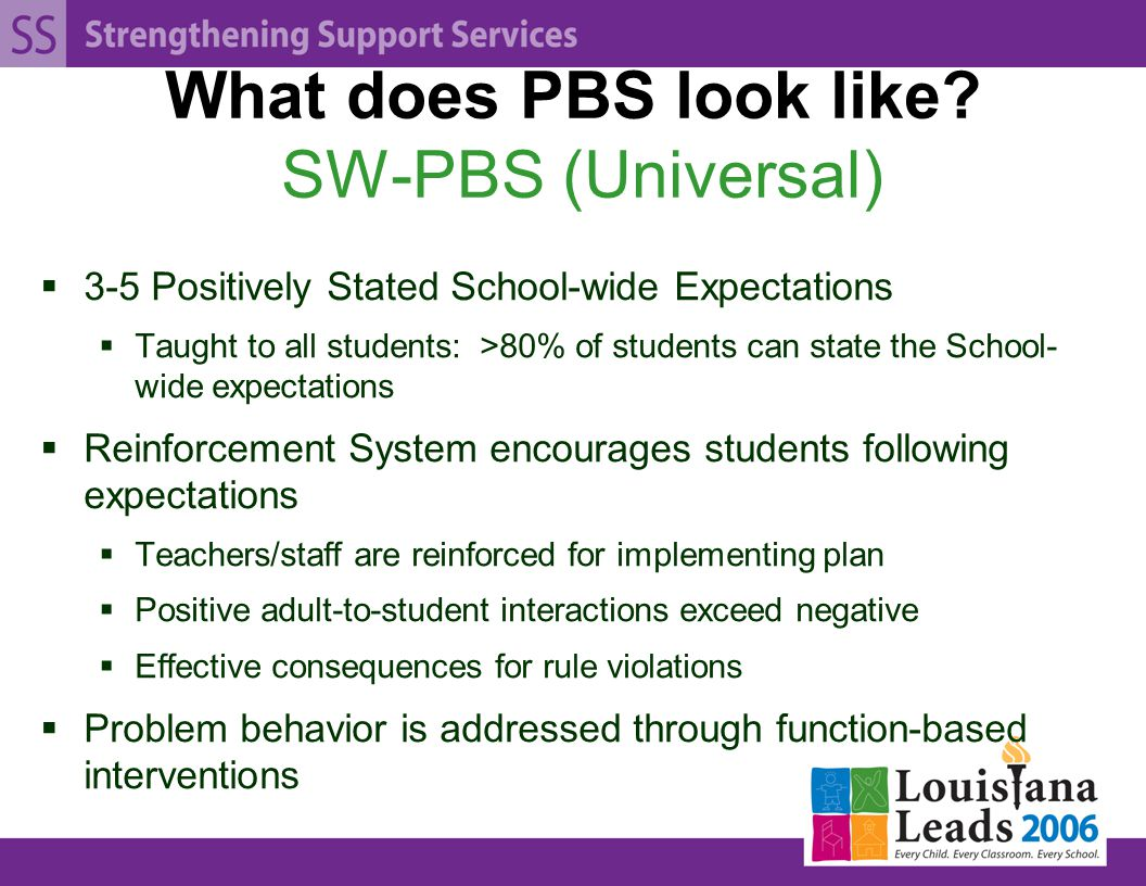 What does PBS look like.
