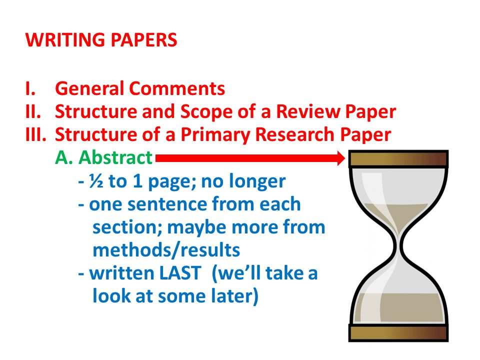 what is a primary research paper