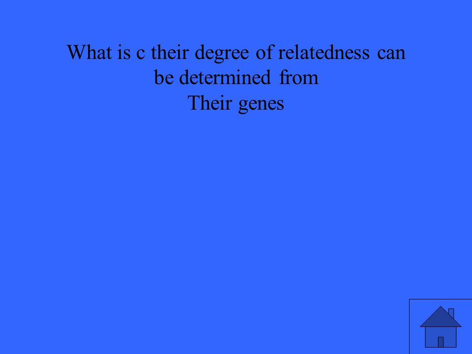 What is c their degree of relatedness can be determined from Their genes