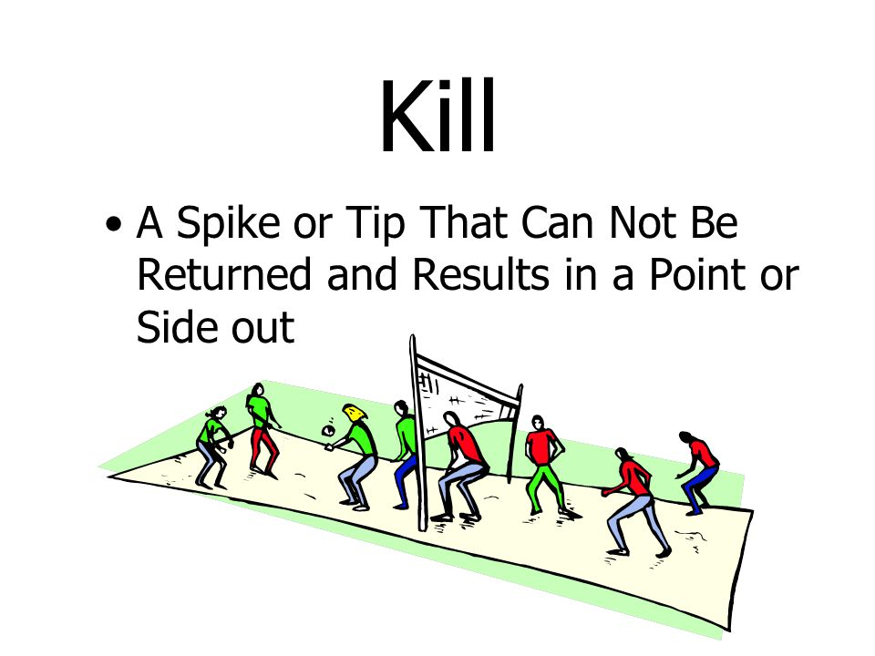 Kill A Spike or Tip That Can Not Be Returned and Results in a Point or Side out