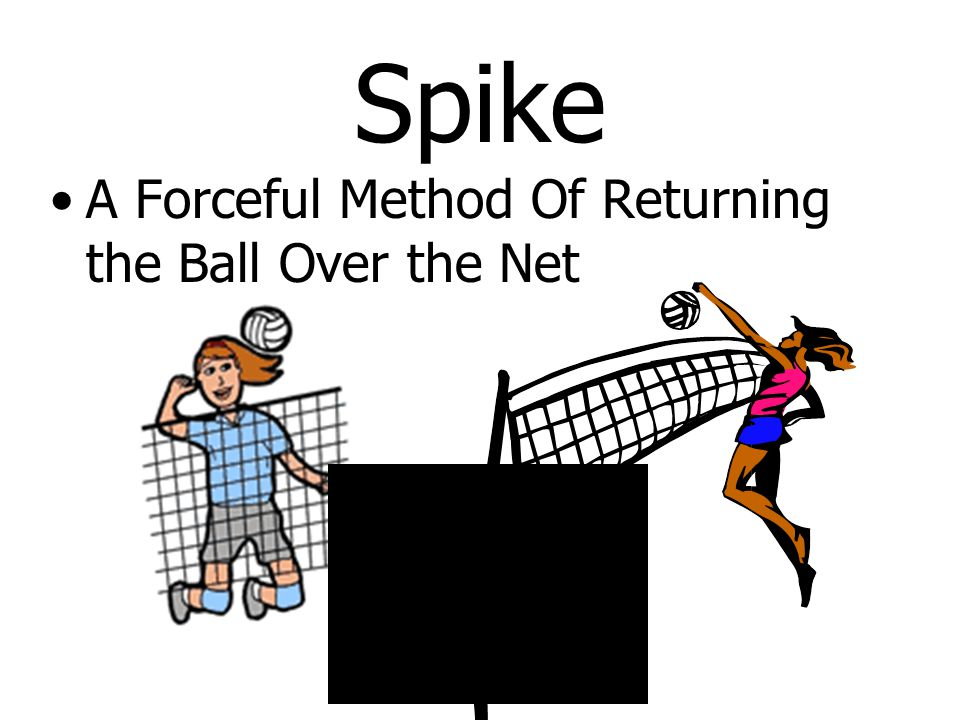 Spike A Forceful Method Of Returning the Ball Over the Net