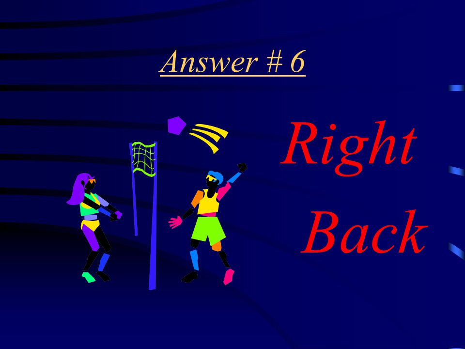 Question # 6 In which position does the serve take place