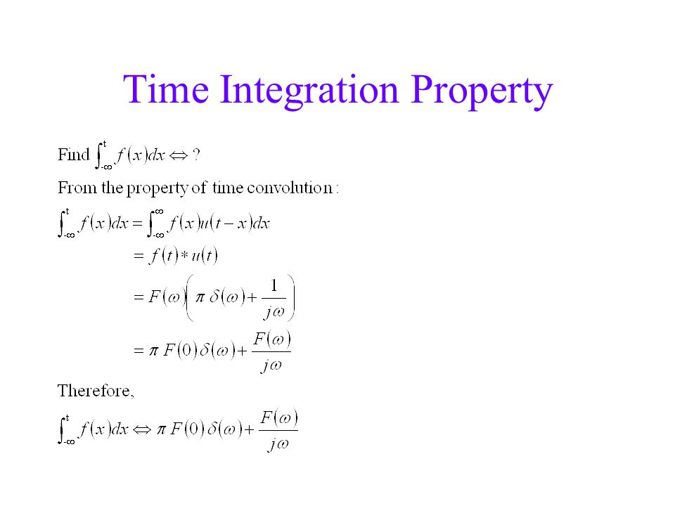 Time Integration Property