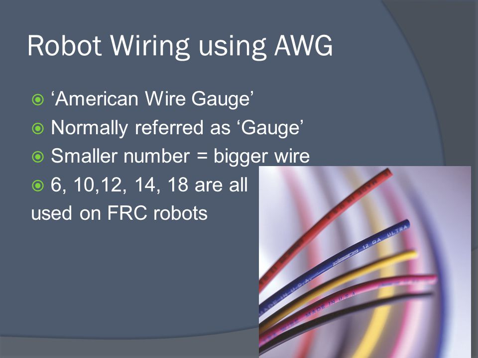 Part 1: Introduction FRC Introduction  FRC 2907 since 2008  Each Frc Robot Wiring Diagram on frc system diagram example, frc wiring 5v axis, frc technical resources, frc servo wiring,