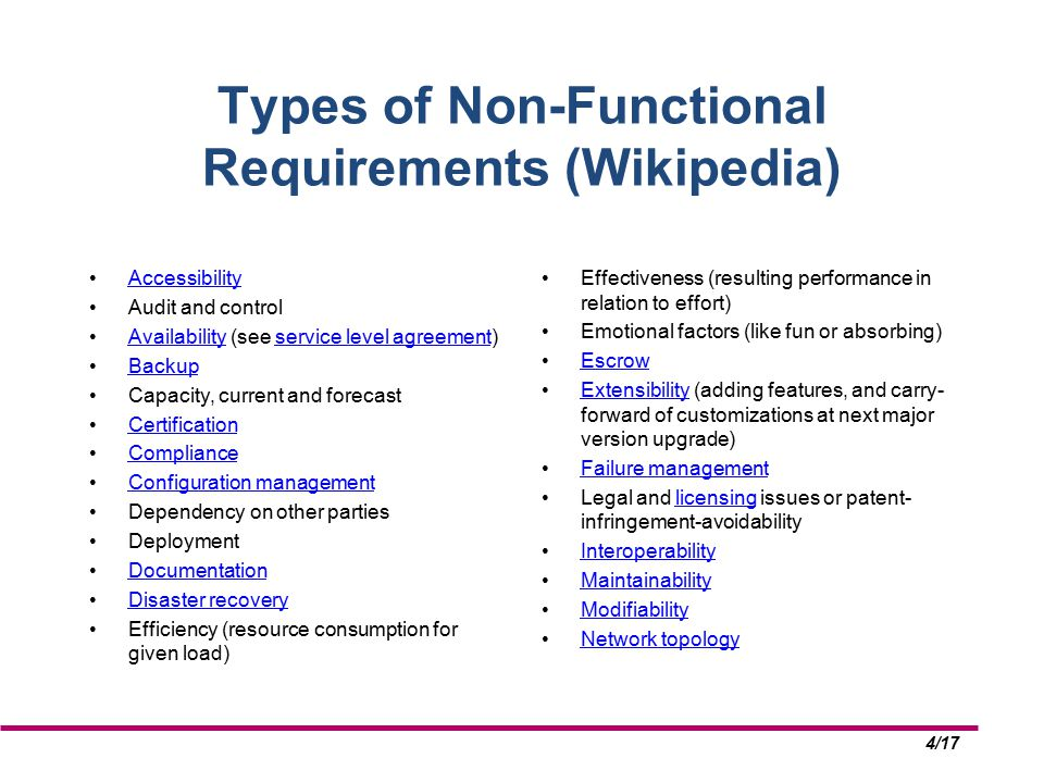117 Non Functional Requirements By Dr Timothy Korson Cpis Ppt