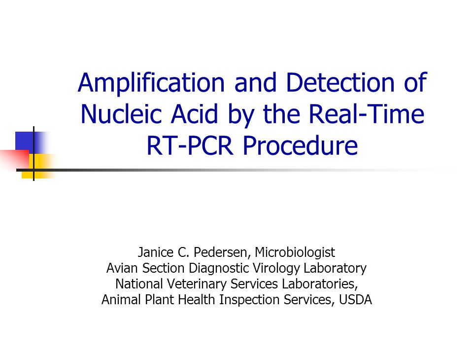 Amplification and Detection of Nucleic Acid by the Real-Time