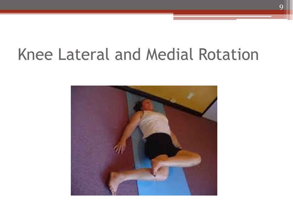 Knee Lateral and Medial Rotation 9