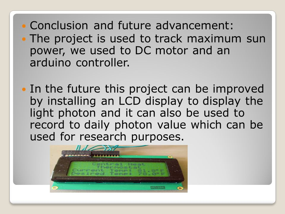 SOLAR TRACKER PROJECT  INTRODUCTION: Solar tracker is a