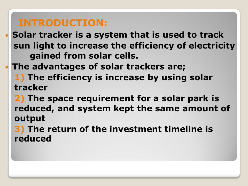 Solar tracking system. Ppt video online download.