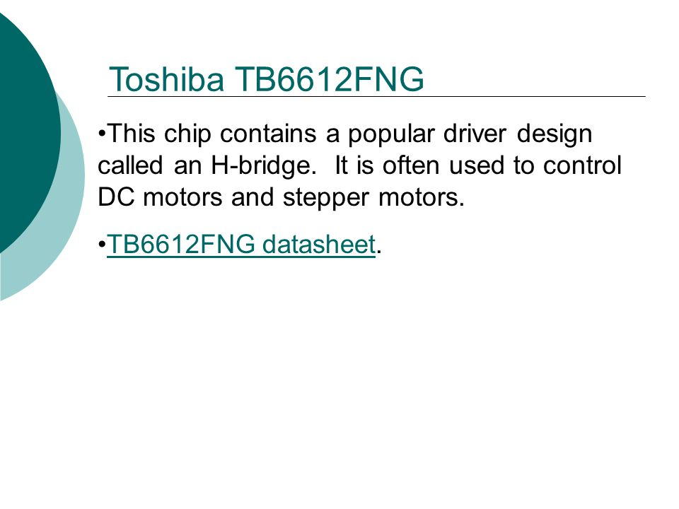 This chip contains a popular driver design called an H-bridge.