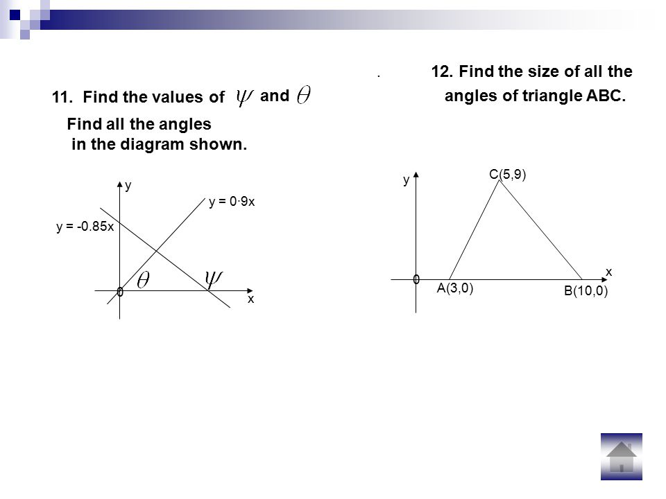 12. Find the size of all the angles of triangle ABC.