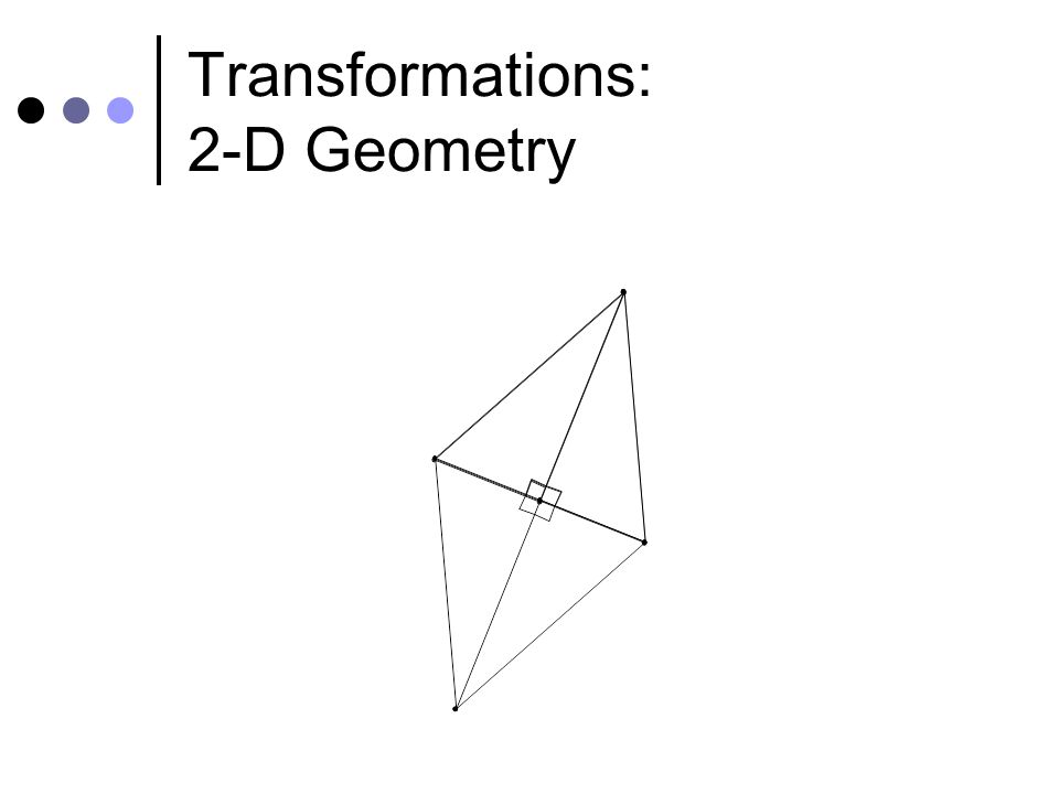Transformations: 2-D Geometry