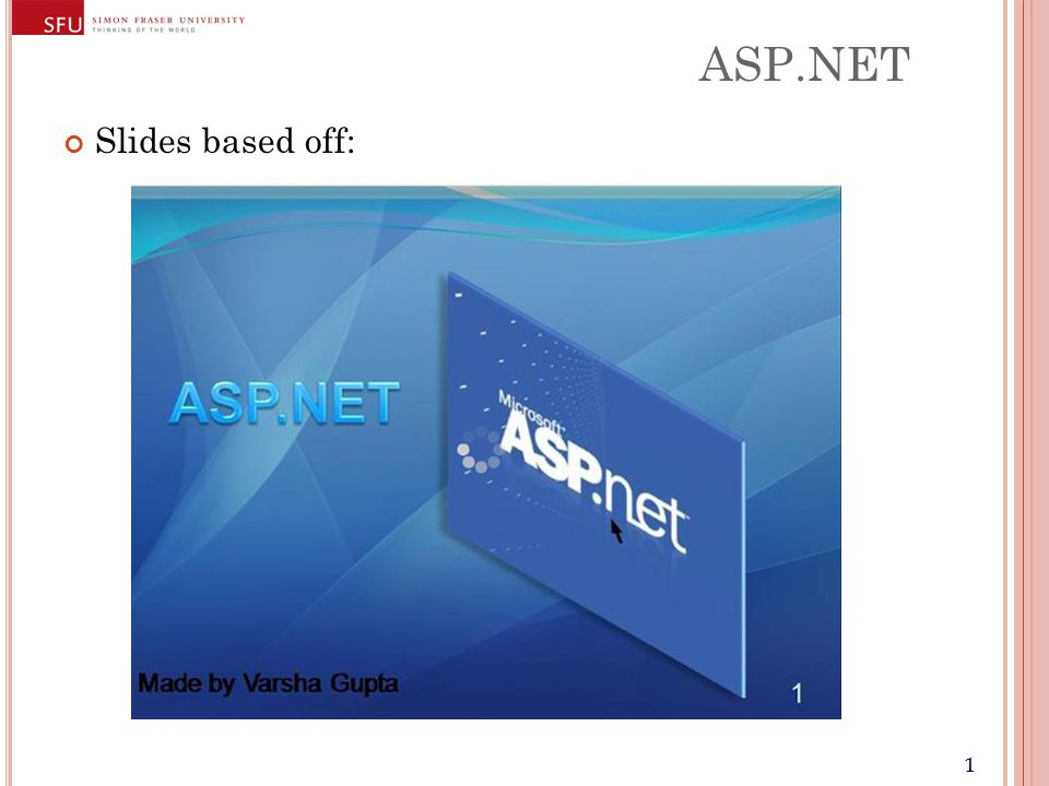 11 ASP.NET Slides based off: