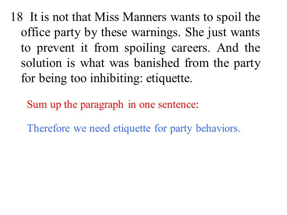 etiquette and manners paragraph