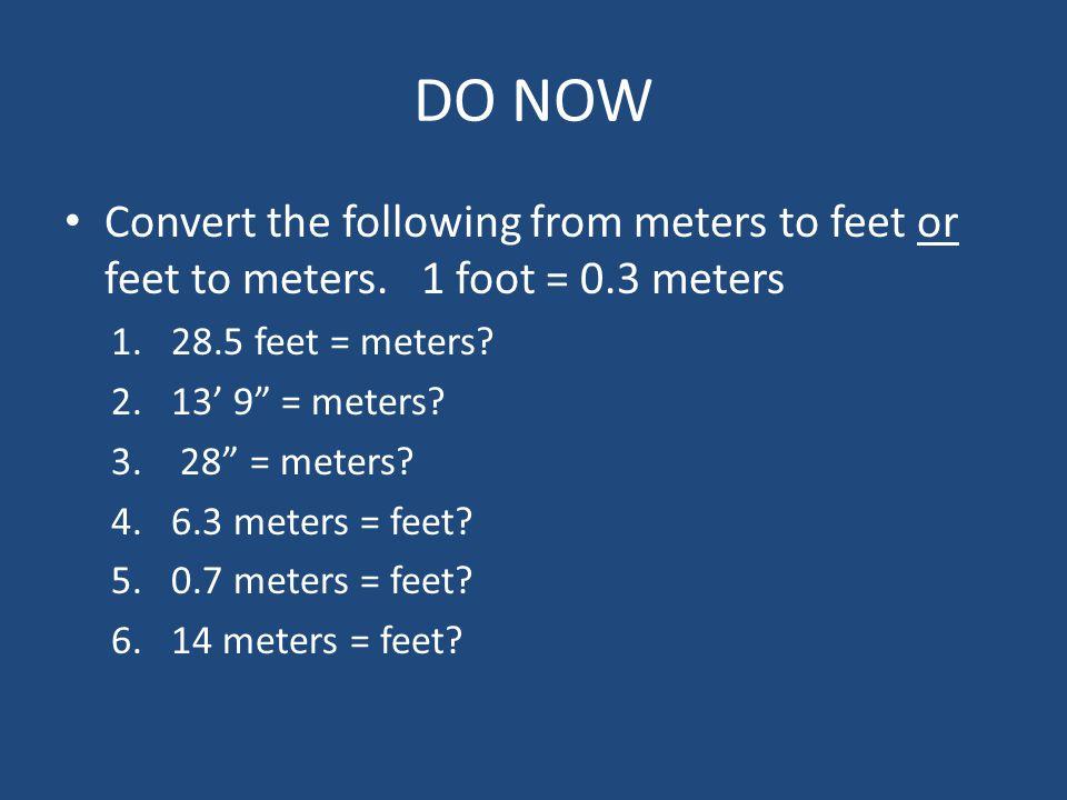 5 feet in meters