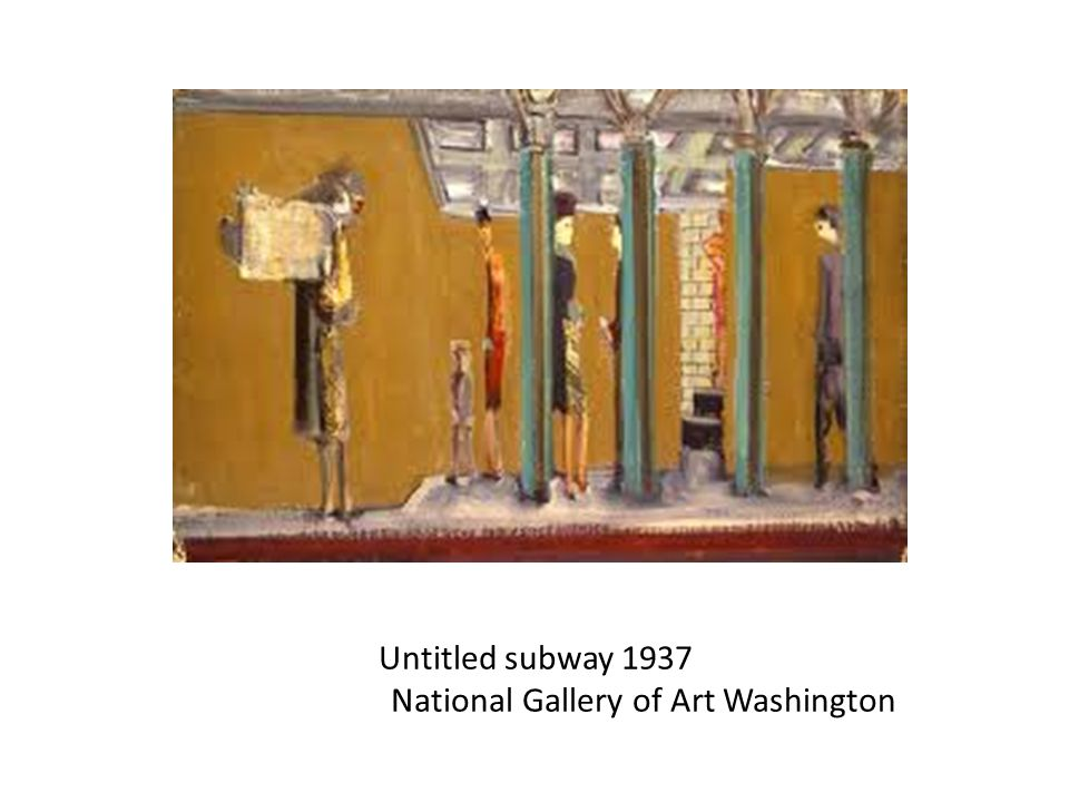 Untitled subway 1937 National Gallery of Art Washington