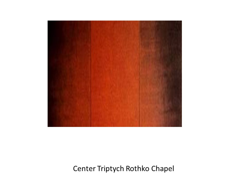 Center Triptych Rothko Chapel