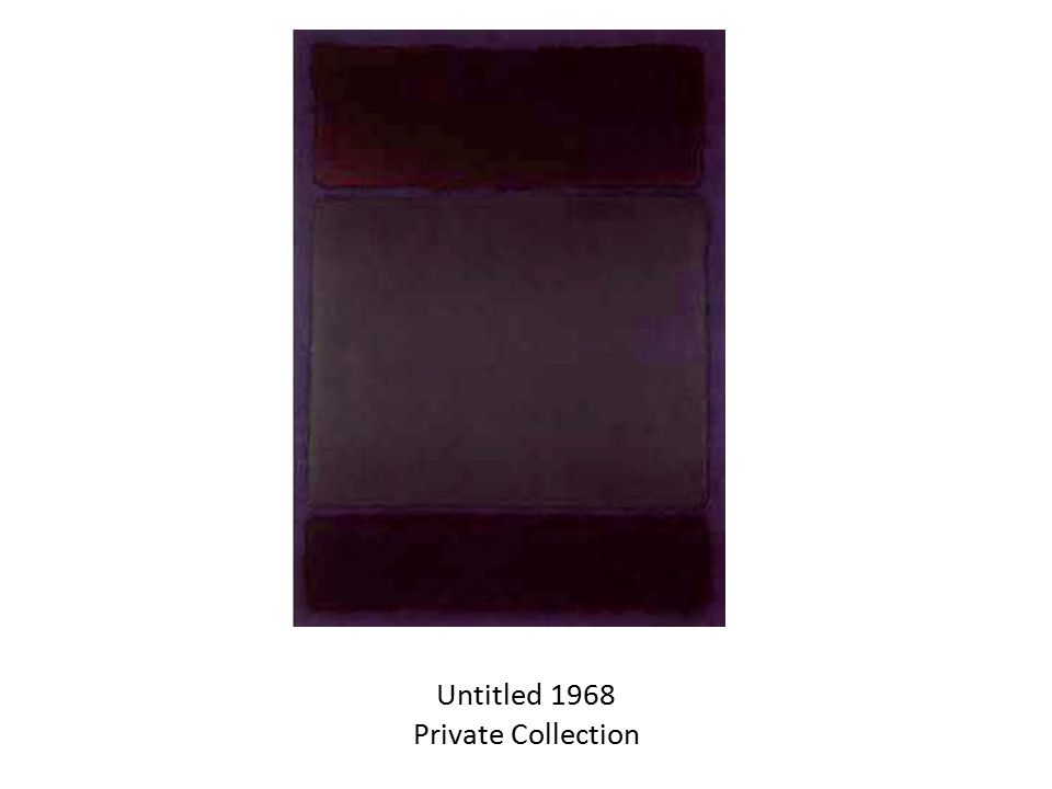 Untitled 1968 Private Collection