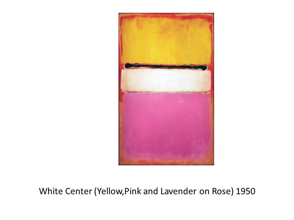 White Center (Yellow,Pink and Lavender on Rose) 1950