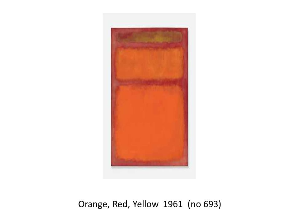 Orange, Red, Yellow 1961 (no 693)