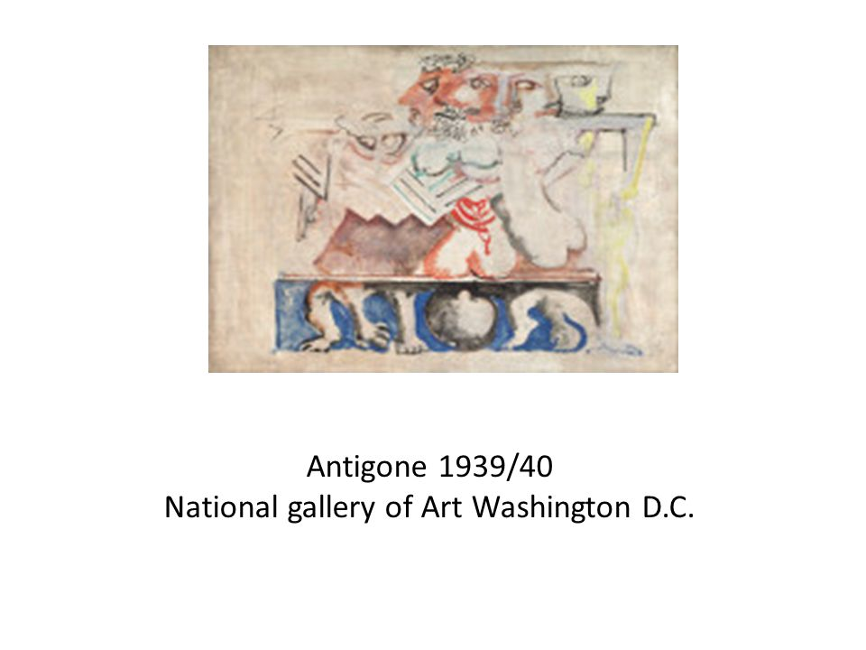 Antigone 1939/40 National gallery of Art Washington D.C.