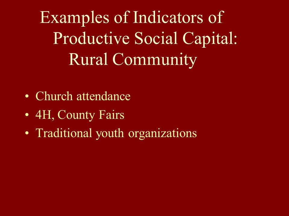 Social Capital And Economic Growth A New Model For Rural