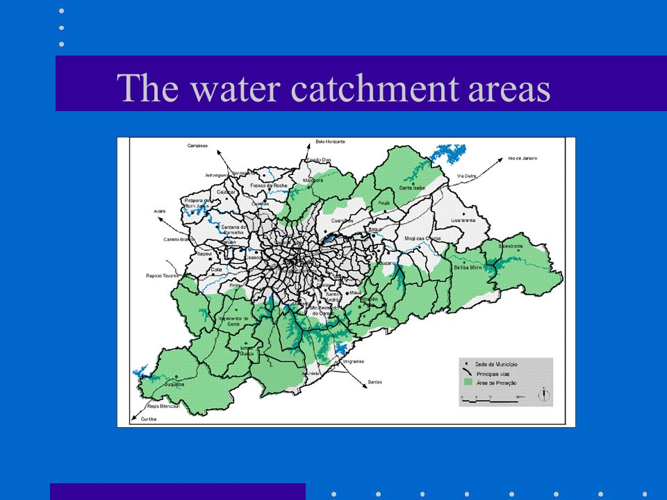 The water catchment areas