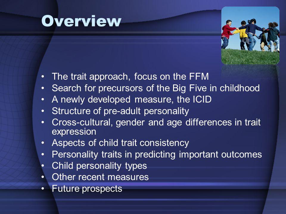 Recent Developments in Child Personality Research Maja Zupančič