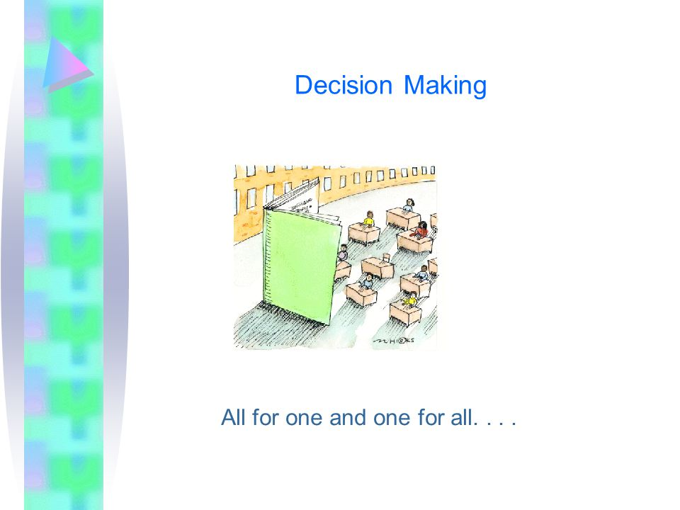 Decision Making All for one and one for all....