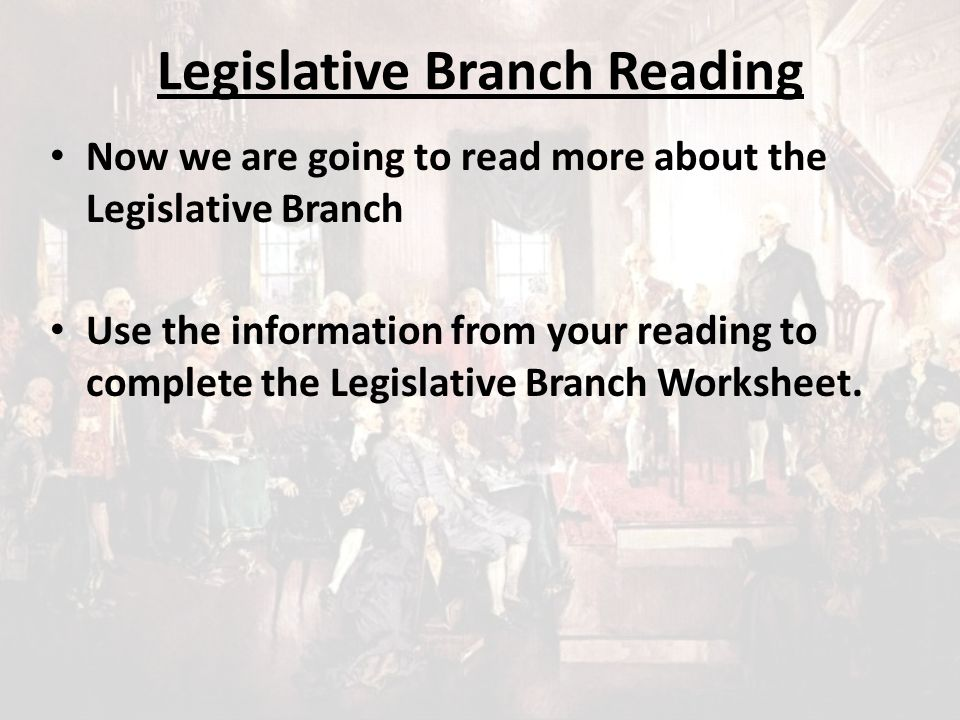 Warm Up 3 What Is The Main Function Of The Legislative Branch What