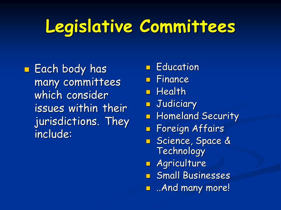 Types of Legislation Two types of Legislation: Two types of Legislation: Bills Bills New Laws New Laws Resolutions Resolutions Statements from Congress Statements from Congress In the House, a bill clerk assigns the bill a number.