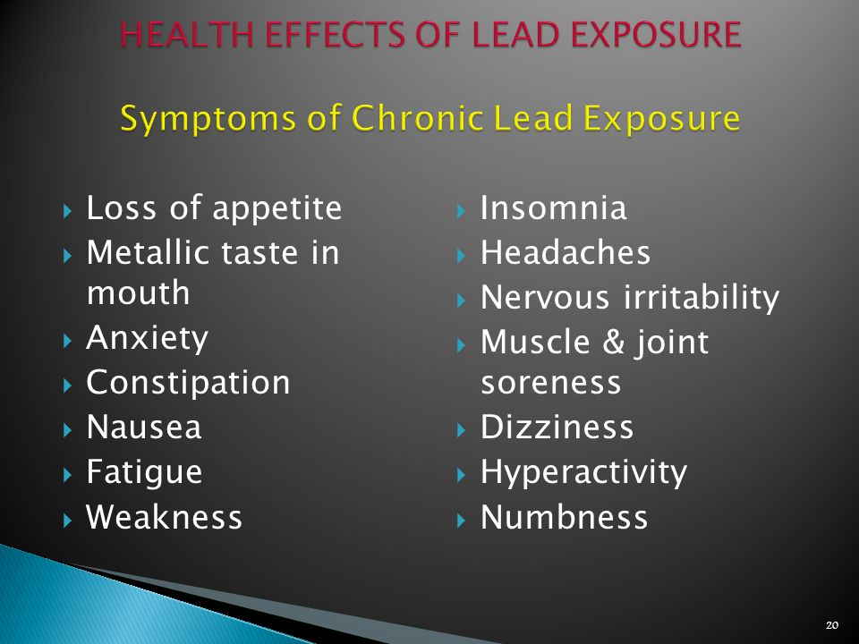 Required if you are exposed to lead at or above the action level or
