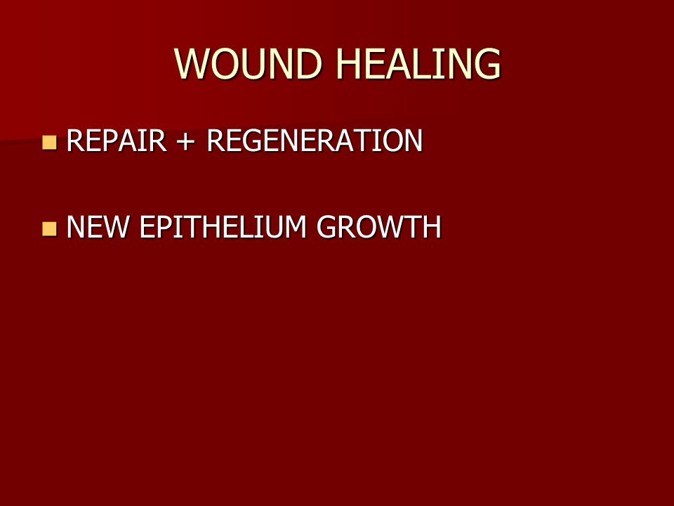 WOUND HEALING REPAIR + REGENERATION REPAIR + REGENERATION NEW