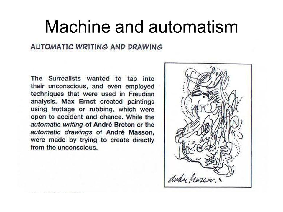 Machine and automatism
