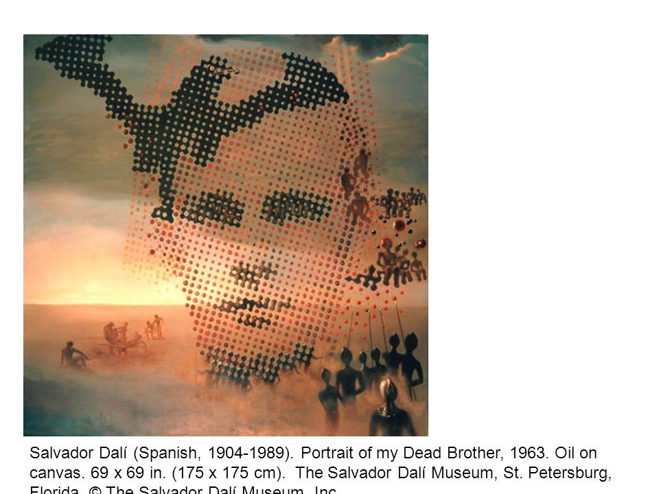 Salvador Dalí (Spanish, ). Portrait of my Dead Brother,