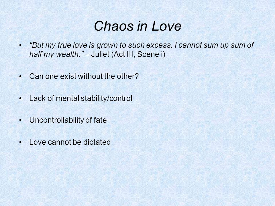 Love and chaos scene 5