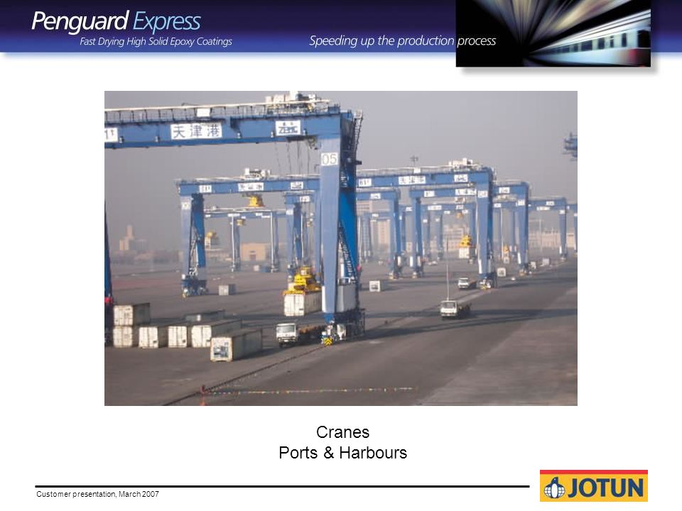 Customer presentation, March 2007 Cranes Ports & Harbours