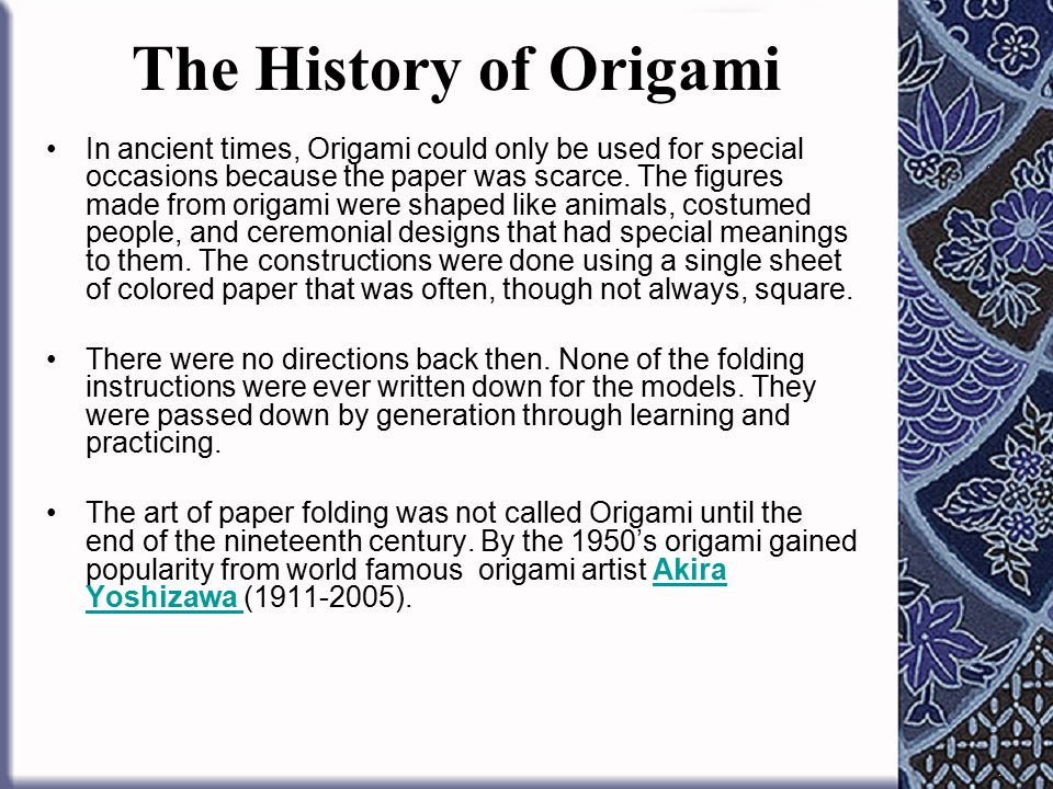 David Mitchell's Origami Heaven - History - Ceremonial Wrappers ... | 720x960