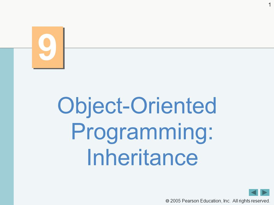  2005 Pearson Education, Inc. All rights reserved Object-Oriented Programming: Inheritance