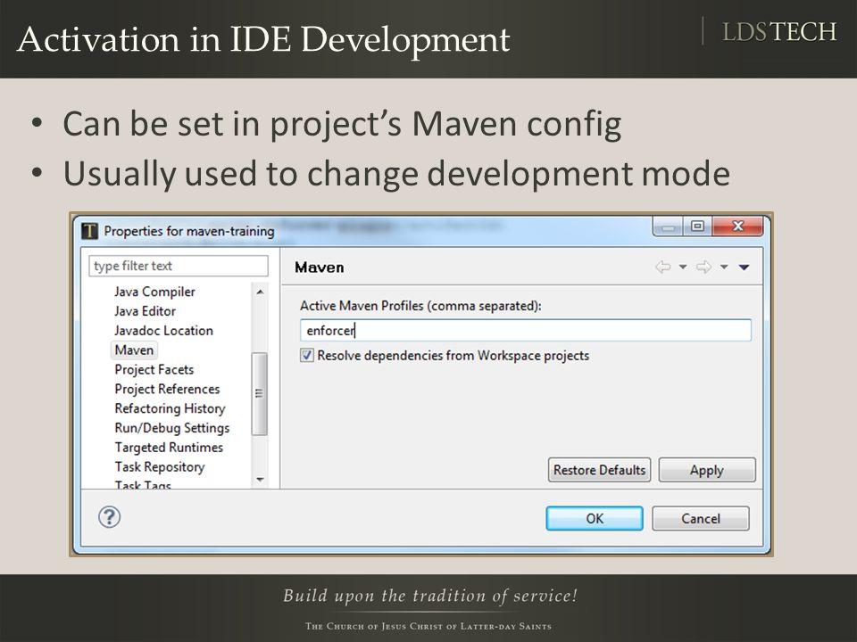 maven profile activation property