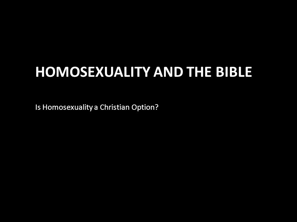 Scriptures relating to homosexuality in christianity