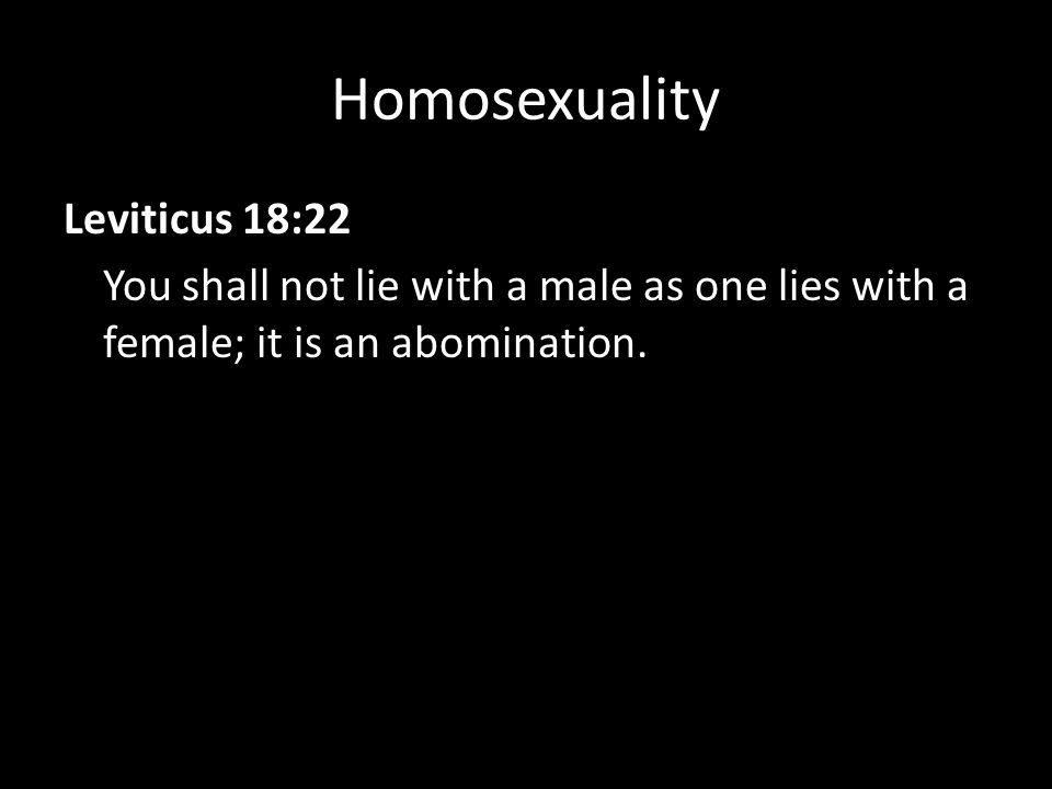 Leviticus 18 22 not homosexuality