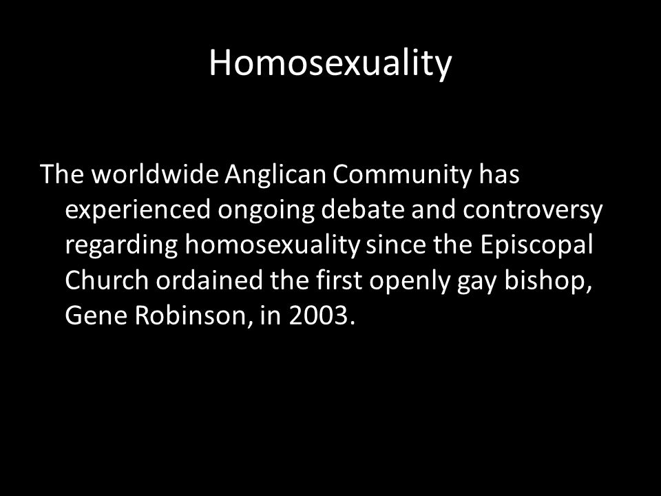 Anglican teaching on homosexuality and christianity