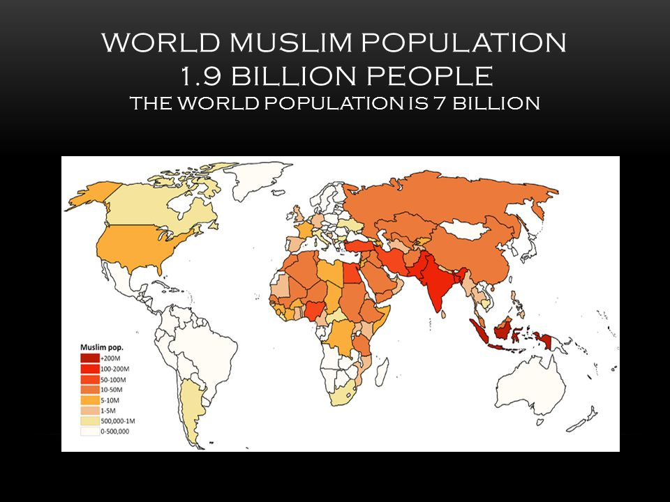 WORLD MUSLIM POPULATION 1.9 BILLION PEOPLE THE WORLD POPULATION IS 7 BILLION