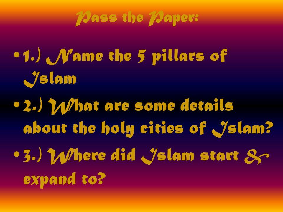 Name The 5 Pillars Of Islam 2