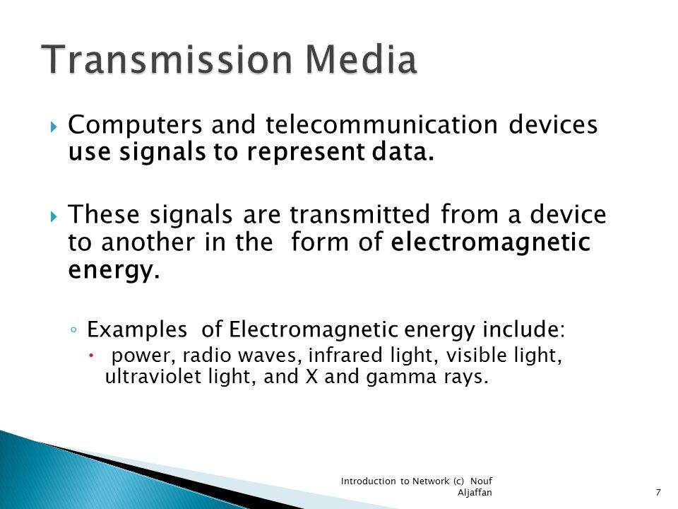  Computers and telecommunication devices use signals to represent data.