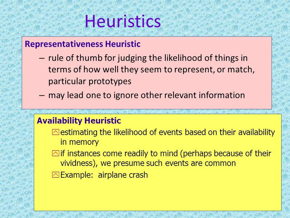 Quiz & worksheet representativeness heuristic | study. Com.