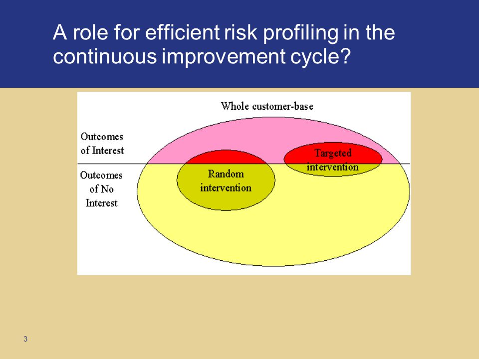 3 A role for efficient risk profiling in the continuous improvement cycle